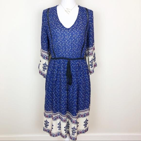 Zara Dresses & Skirts - Zara floral blue peasant dress
